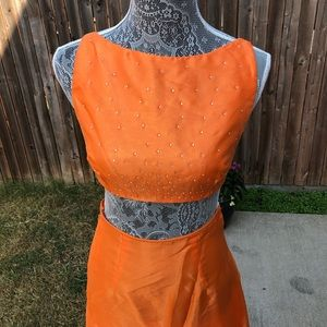 Vintage two piece Jessica McClintock Gown